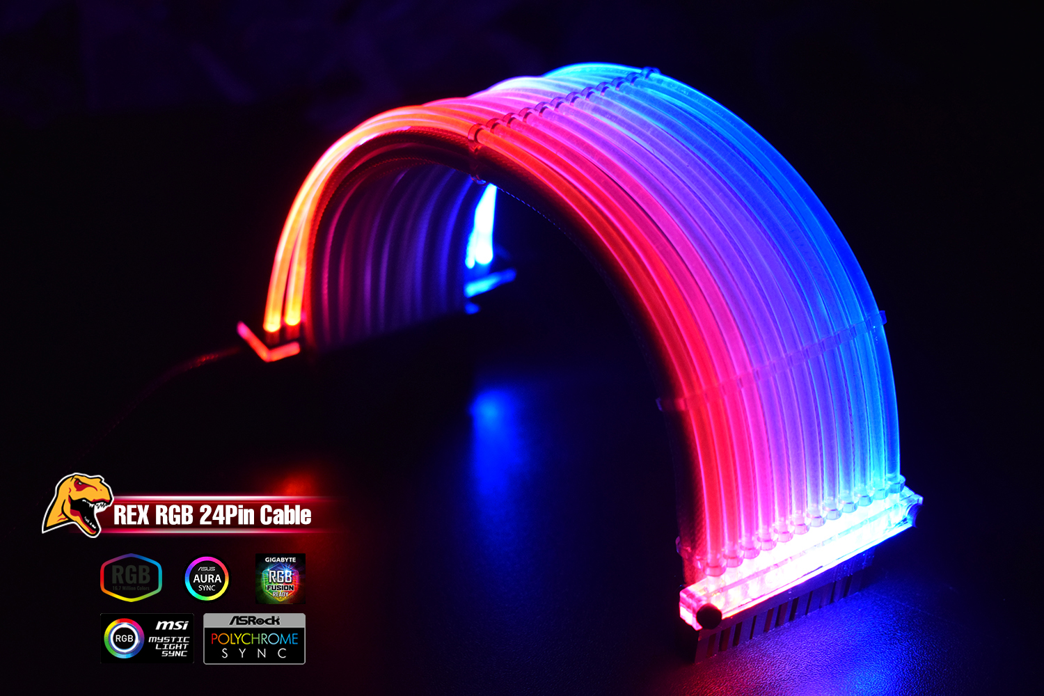 Rex 24 Pin Addressable RGB Power extension cable